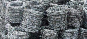 Jual Kawat Duri Jenis BWG 14 Galvanis Panjang 40 Meter
